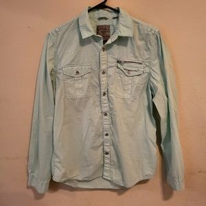 Guess Slim Fit Button Down Shirt